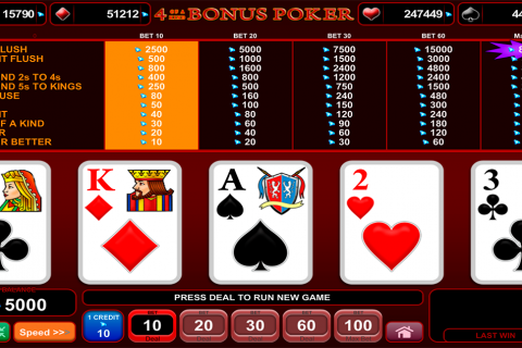of a kind bonus poker egt