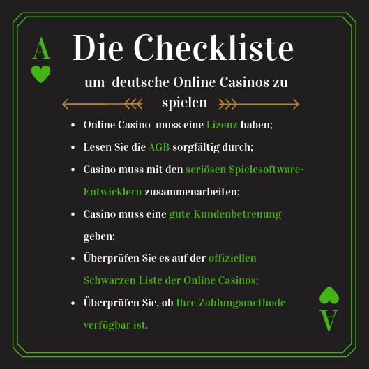 online casino deutschland checkliste