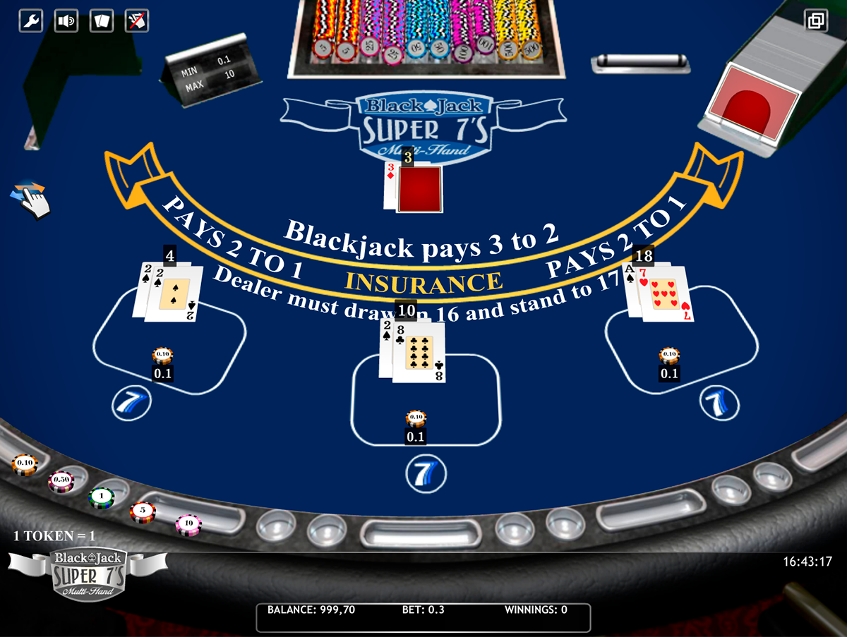 blackjack super 7s multihand isoftbet