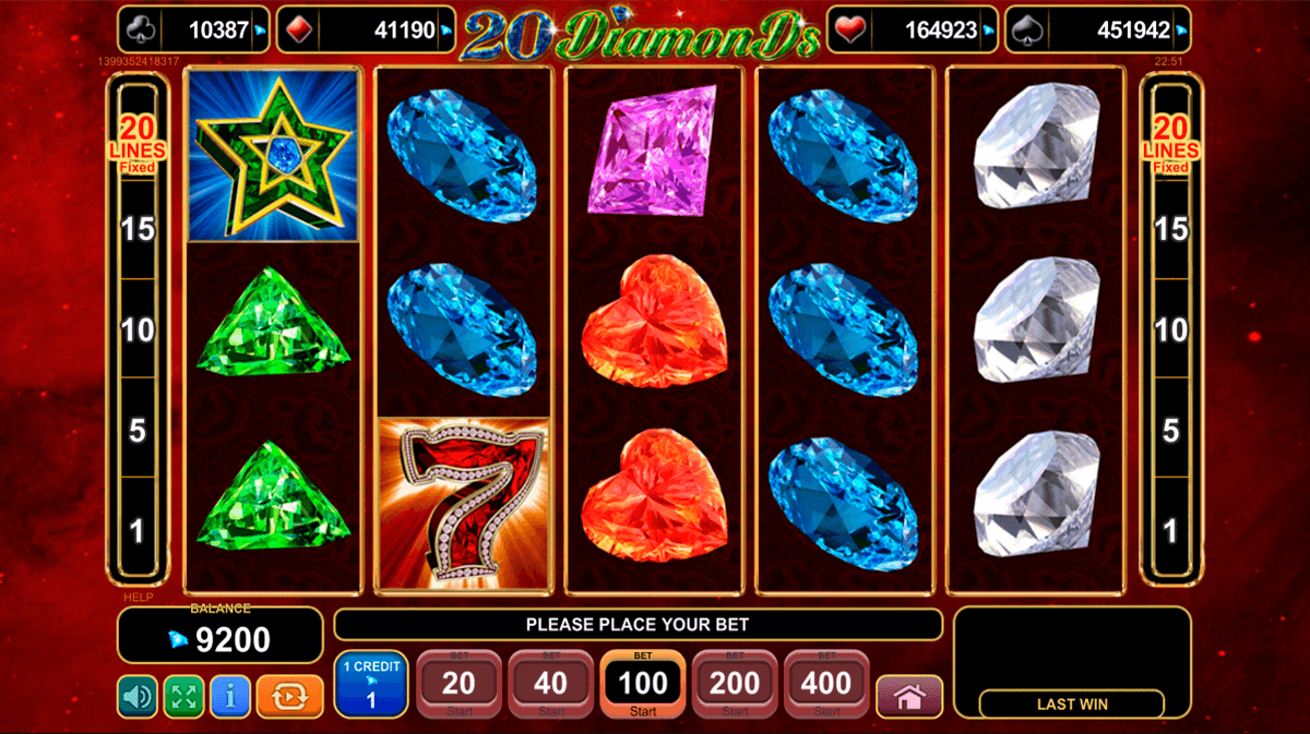 20 diamonds spielen