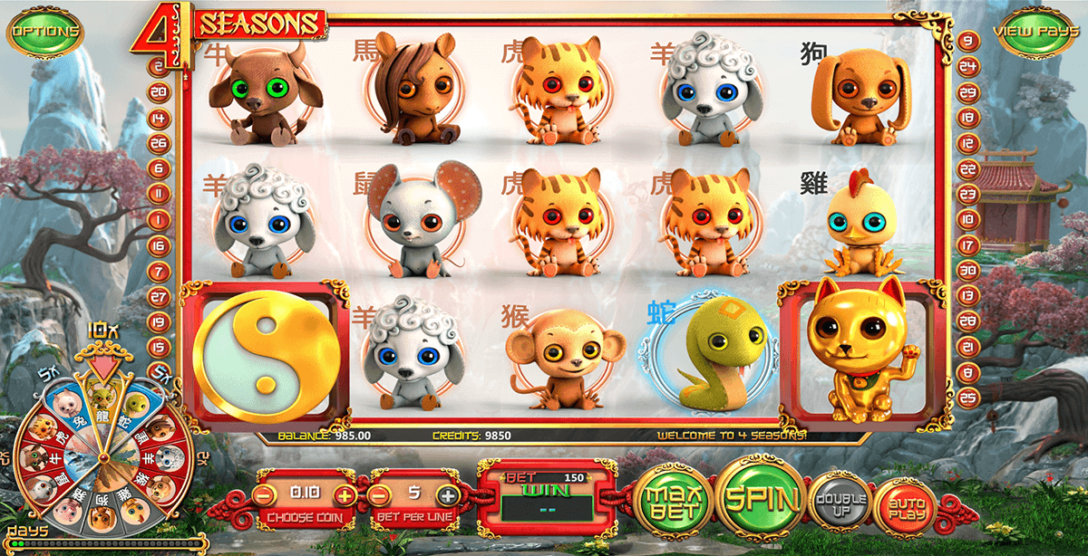 4 seasons betsoft spielautomaten