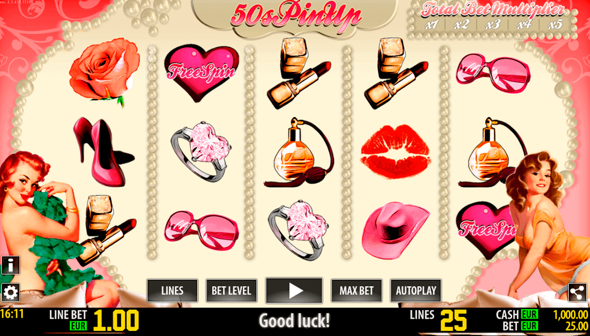Bonus slot machine pin up