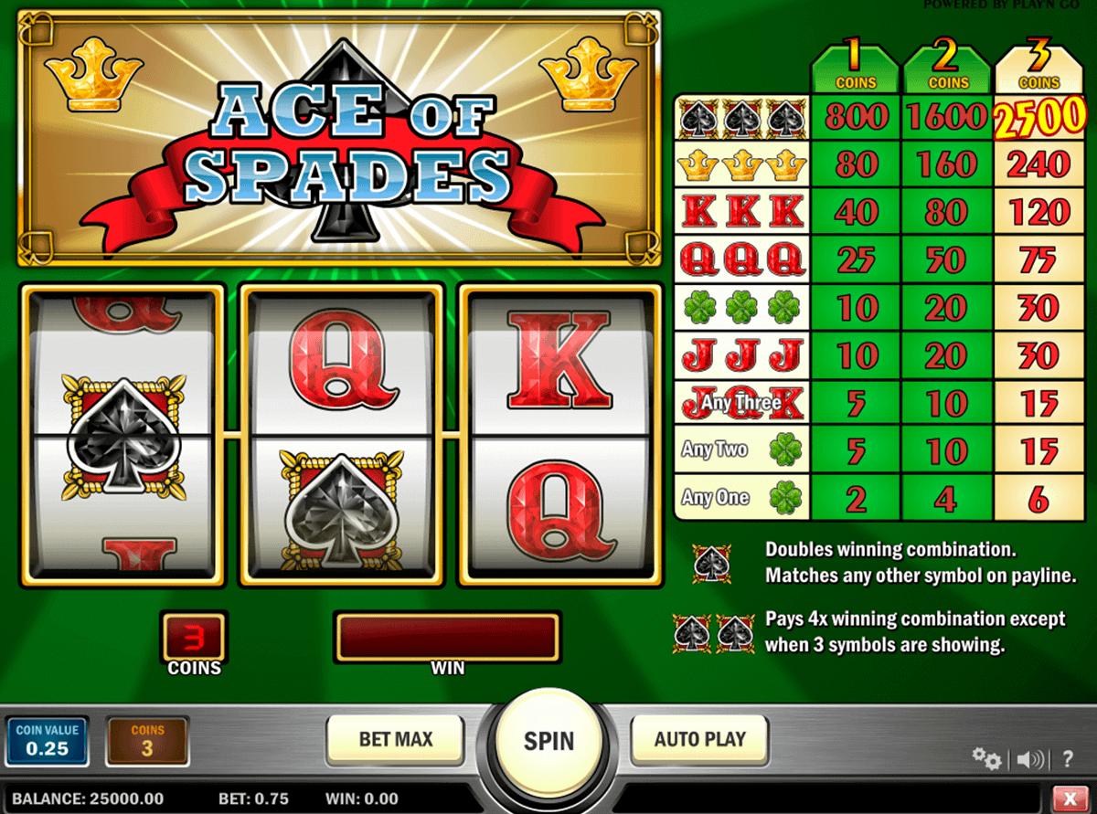 ace of spades playn go spielautomaten
