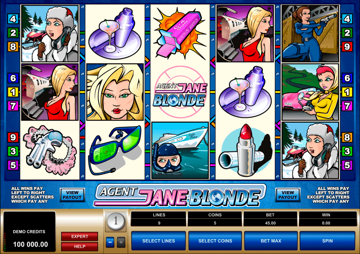 agent jane blonde microgaming spielautomaten