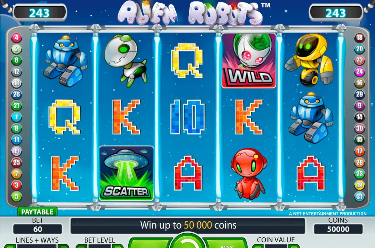 alien robots netent spielautomaten