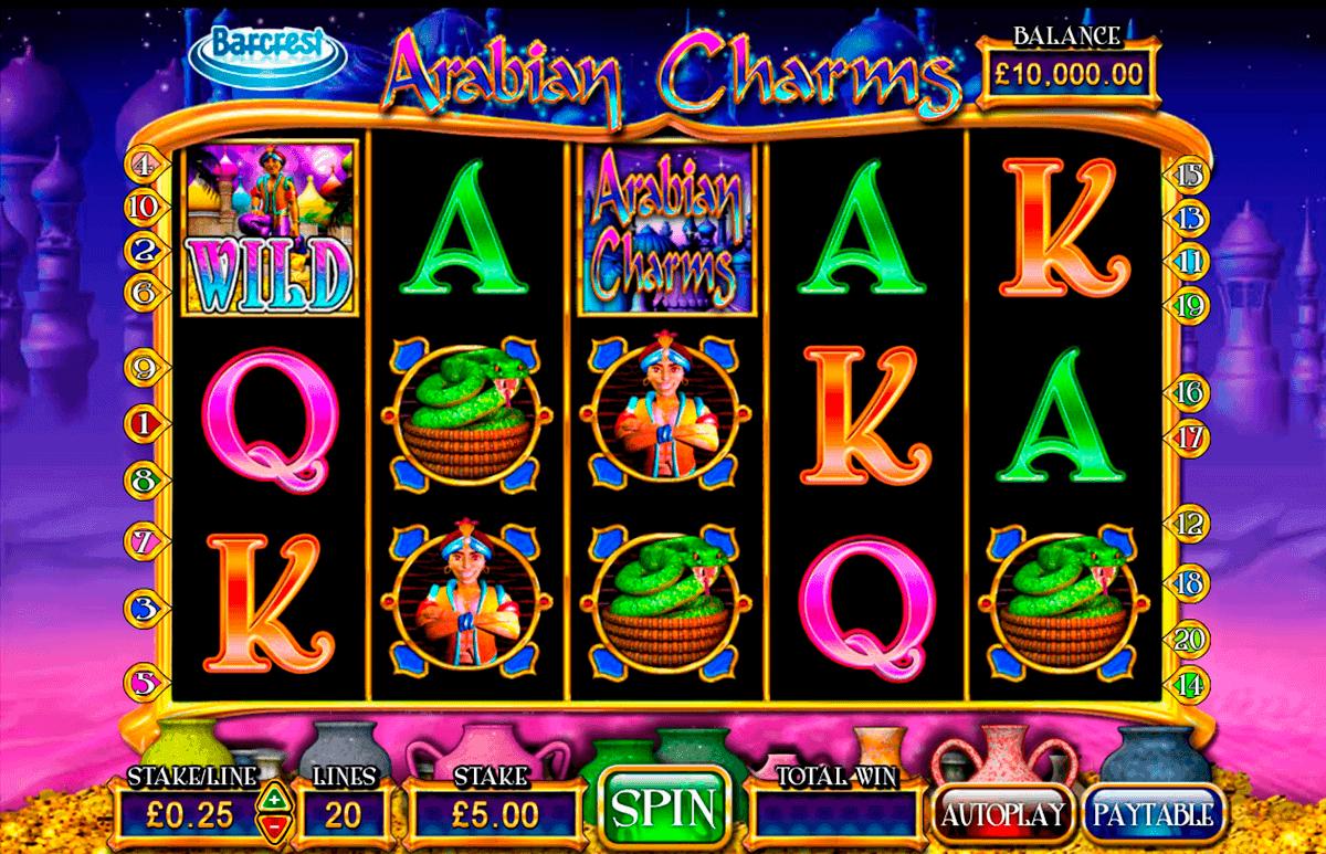 arabian charms barcrest spielautomaten