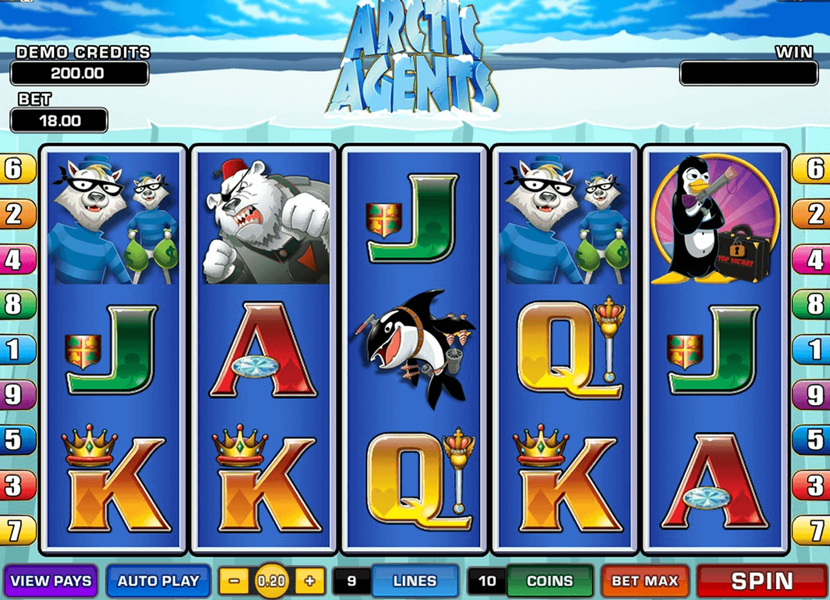 arctic agents microgaming spielautomaten