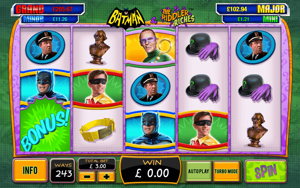 batman the riddler riches playtech spielautomaten