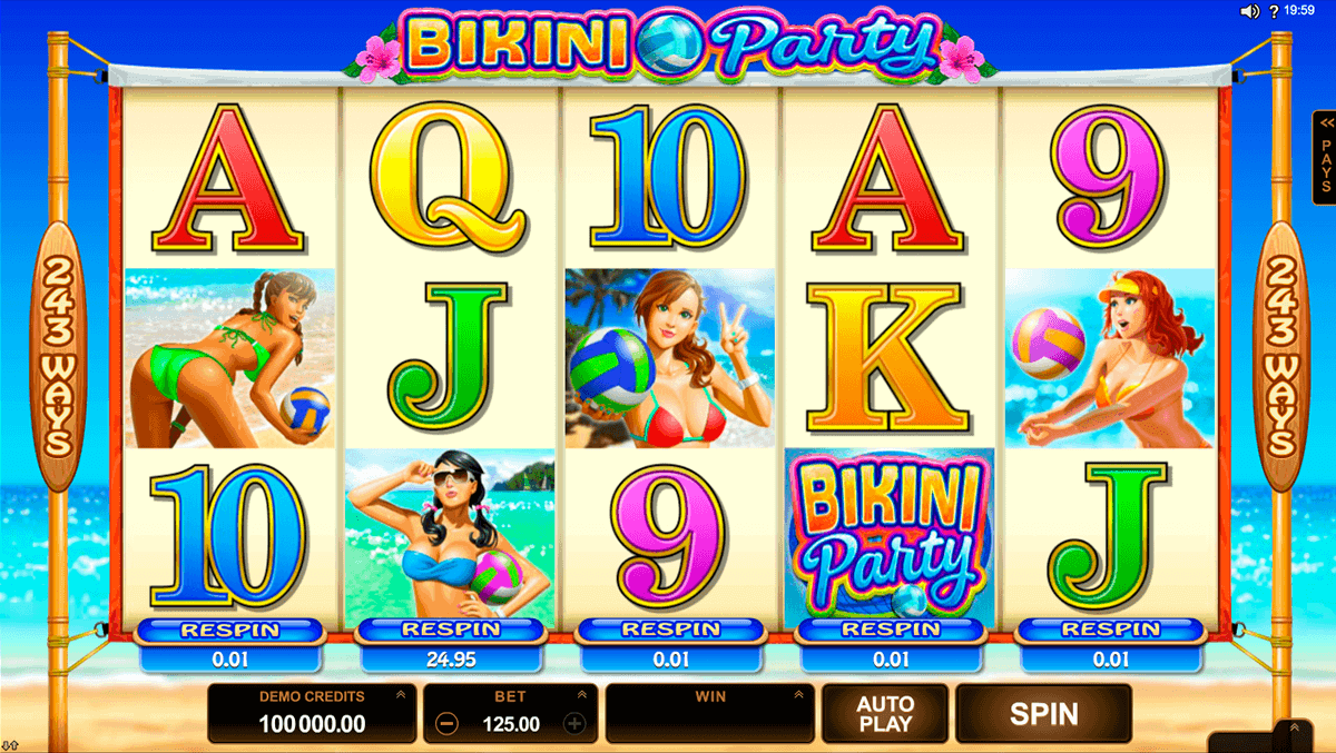 bikini party microgaming spielautomaten