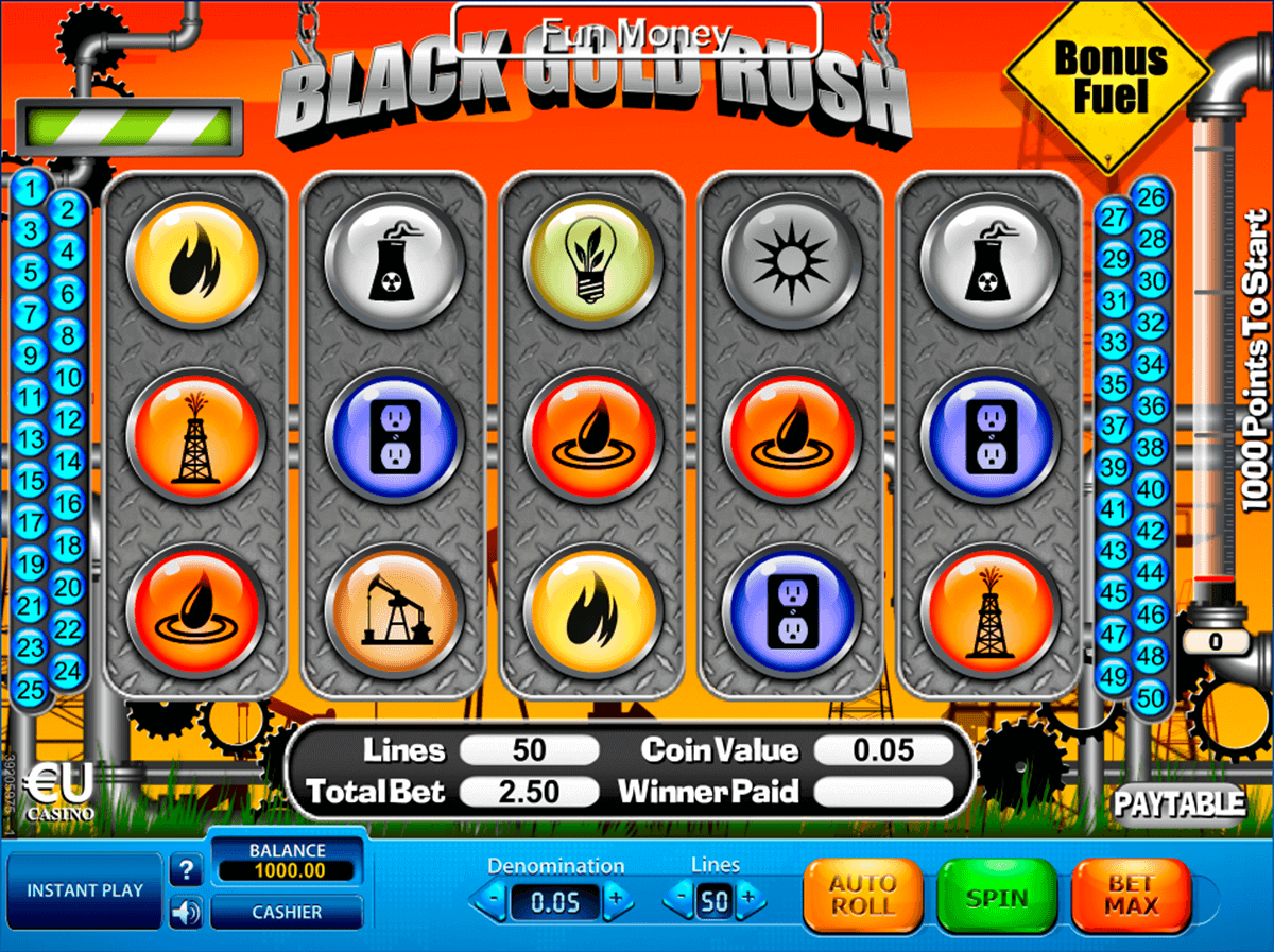 black gold rush skillonnet spielautomaten