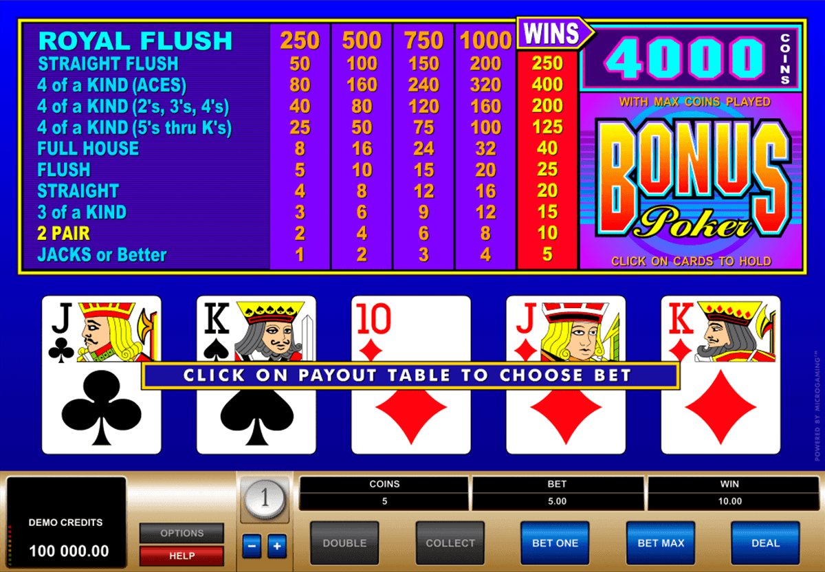 online casino video poker kostenlos spielen ohne download