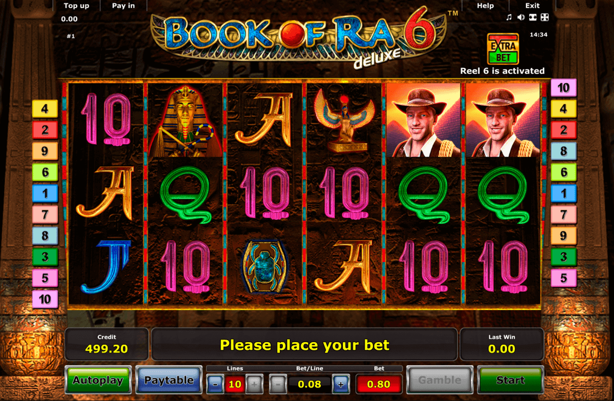 casino online games slot book of ra