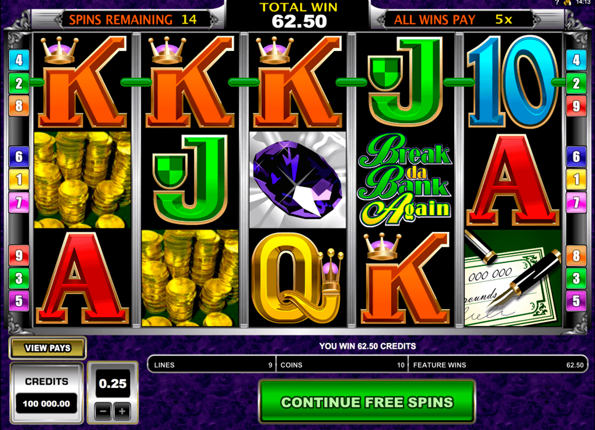 Video-Slot Break da Bank Again – kostenlos online spielen