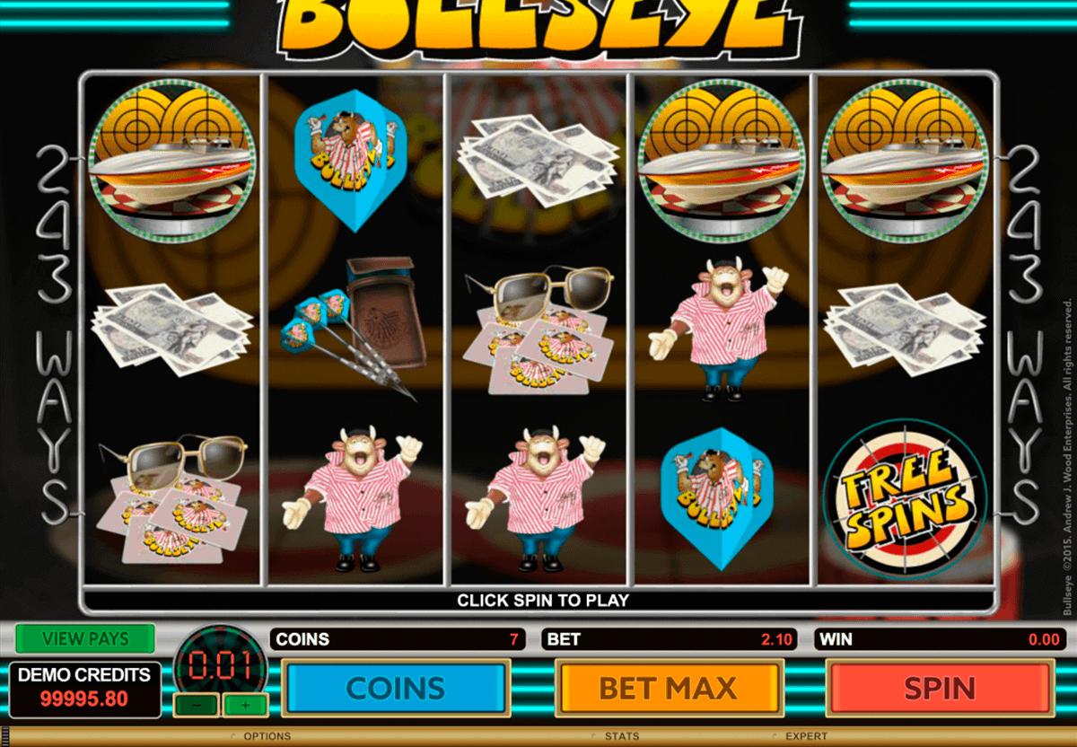 bullseye microgaming spielautomaten