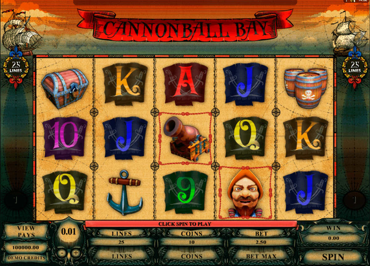 cannonball bay microgaming spielautomaten