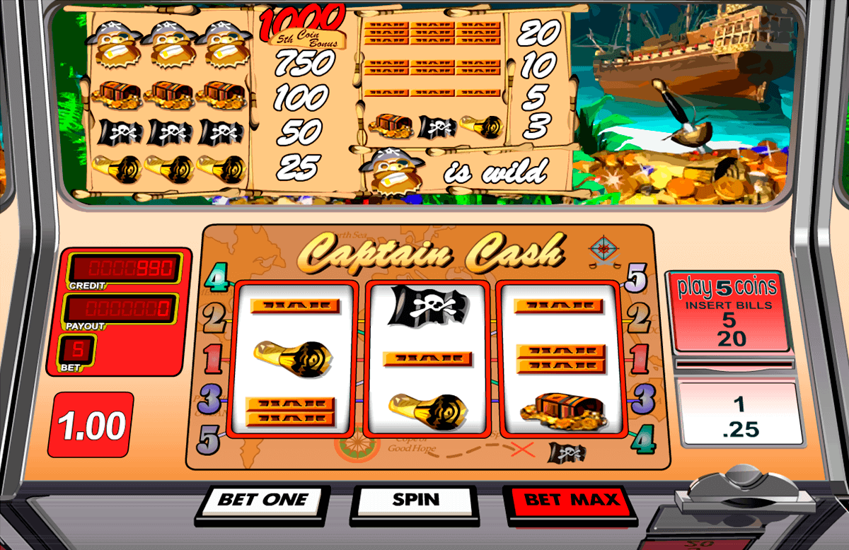 captain cash betsoft spielautomaten