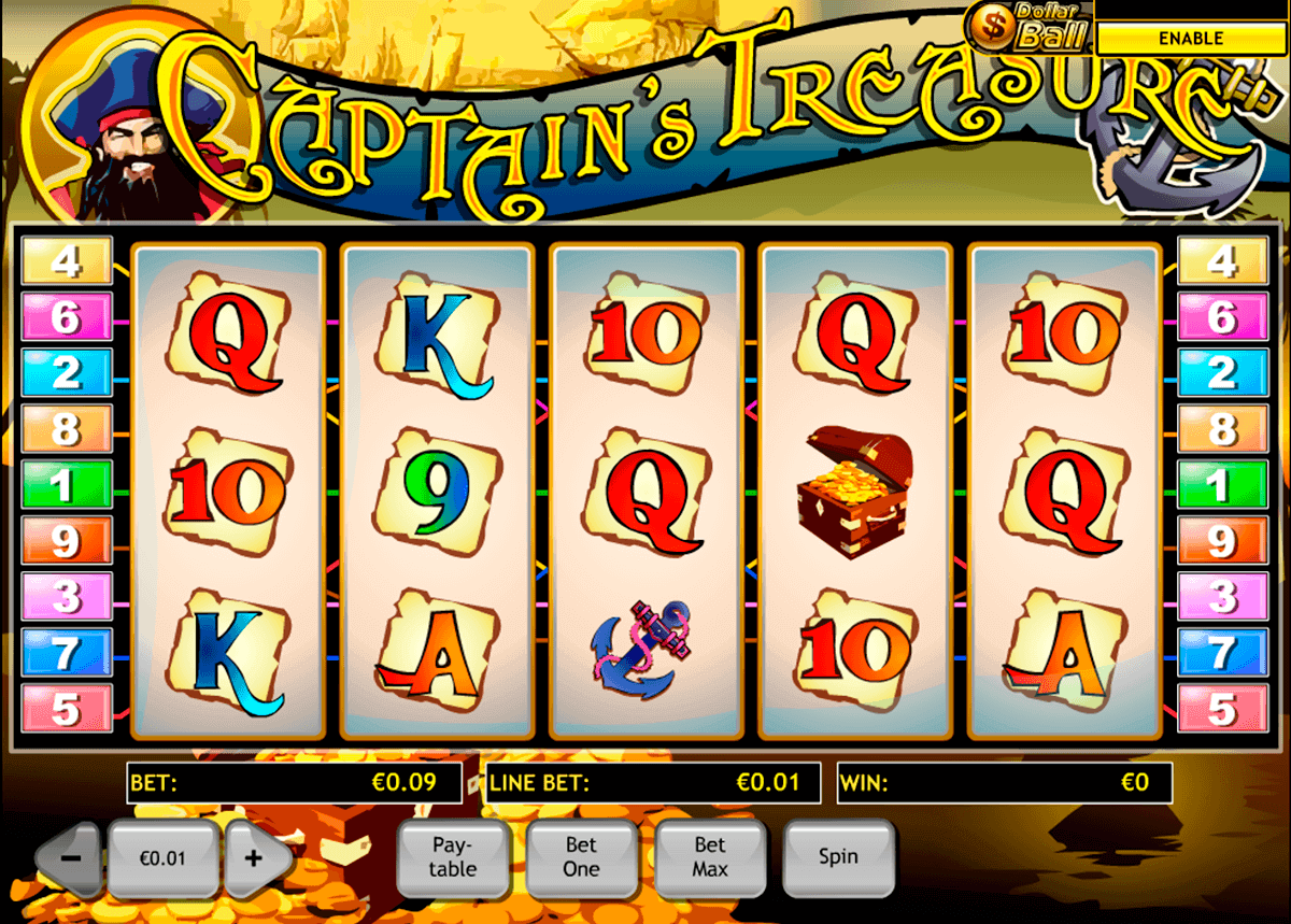 captains treasure playtech spielautomaten