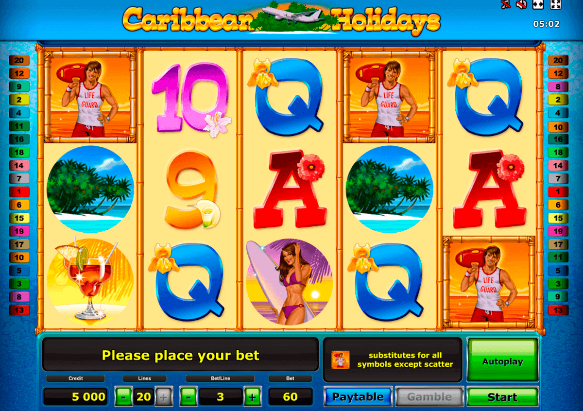 caribbean holidays novomatic spielautomaten