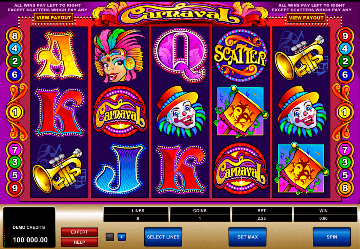carnaval microgaming spielautomaten