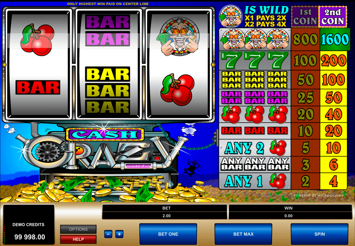 cash crazy microgaming spielautomaten