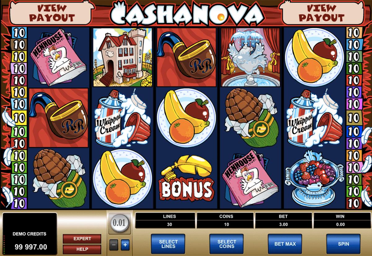 cashanova microgaming spielautomaten