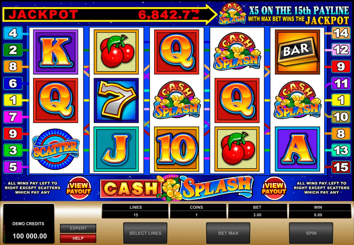 cashsplash video slot microgaming spielautomaten