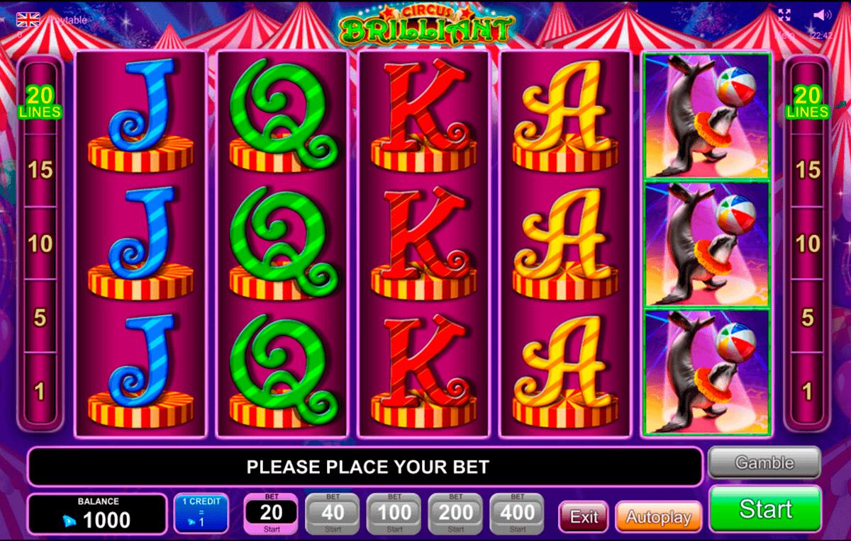 circus brilliant egt spielautomaten