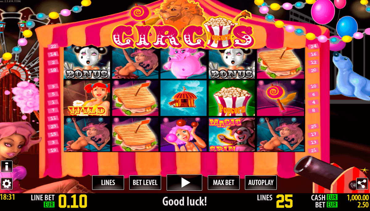 circus hd world match spielautomaten