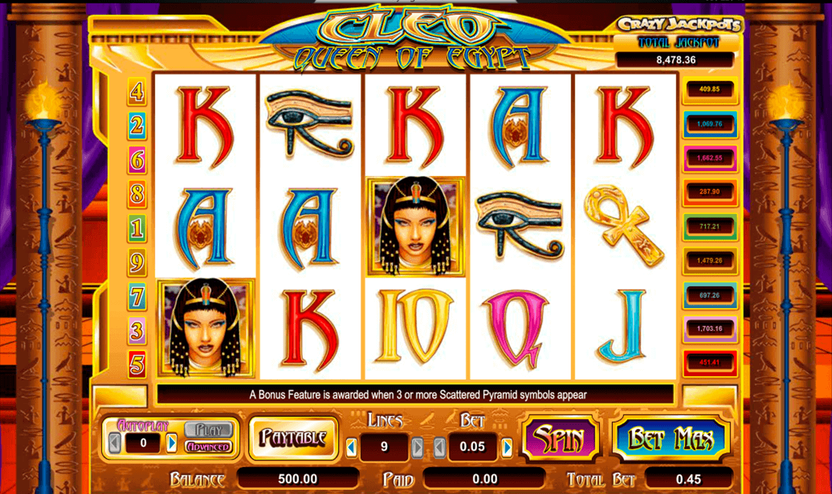 cleo queen of egypt amaya spielautomaten