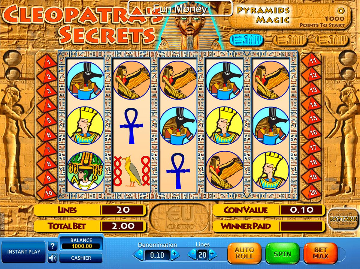 cleopatras secrets skillonnet spielautomaten