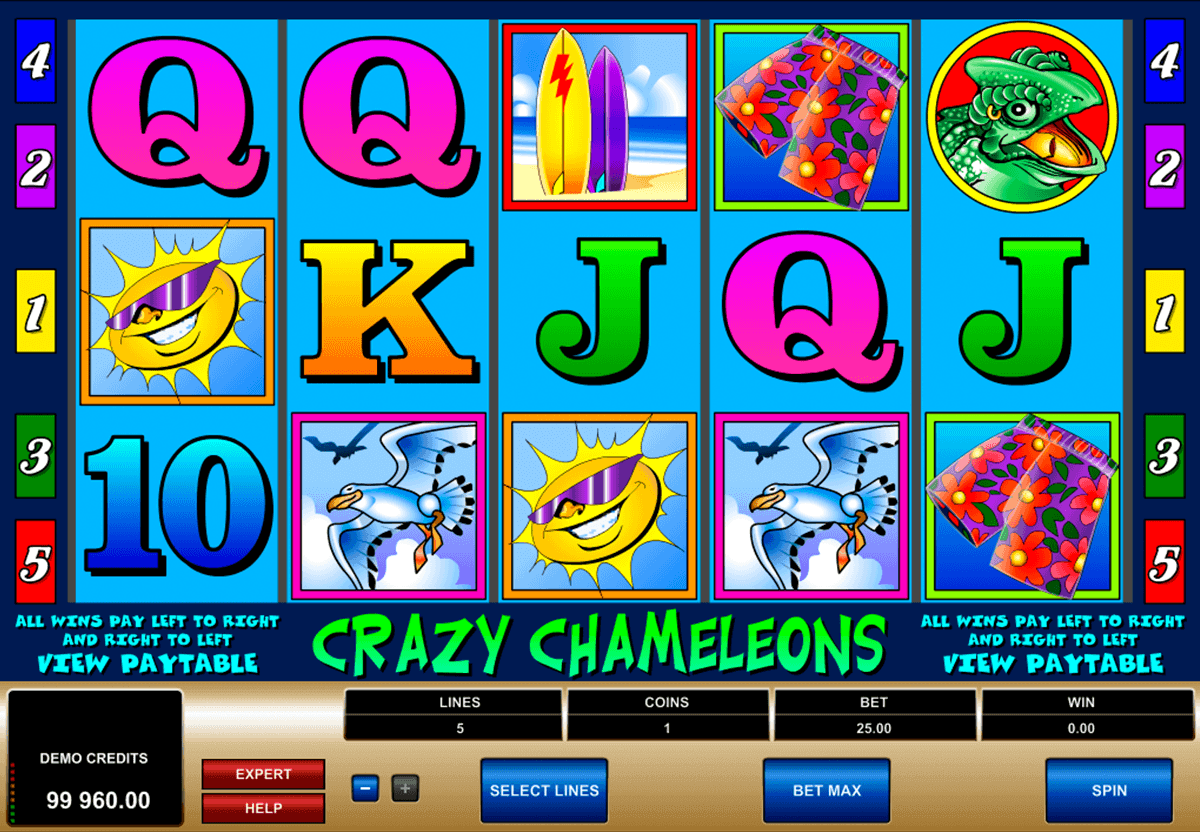 crazy chameleons microgaming spielautomaten