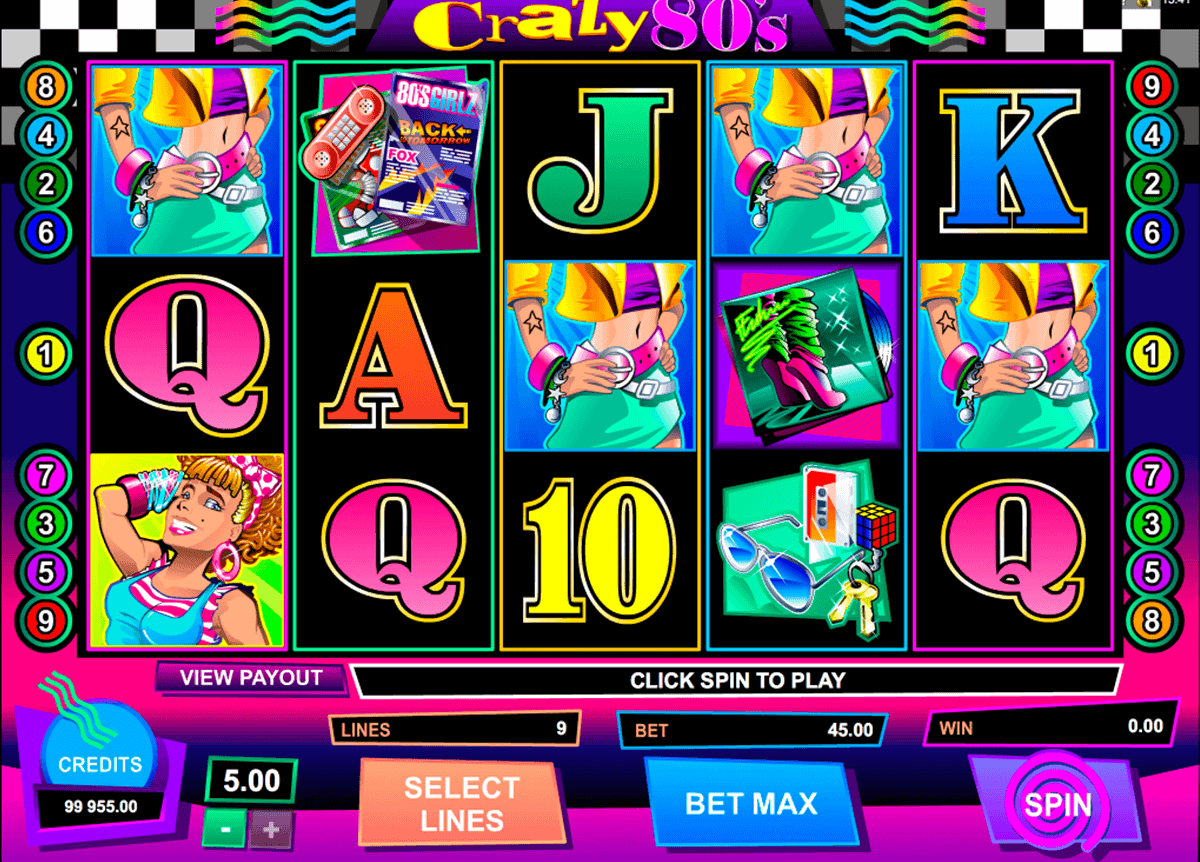 crazy80s microgaming spielautomaten