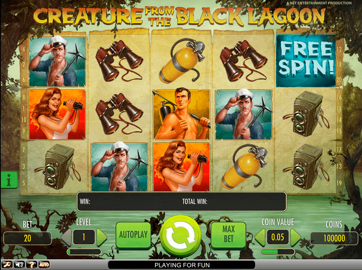 creature from the black lagoon netent spielautomaten
