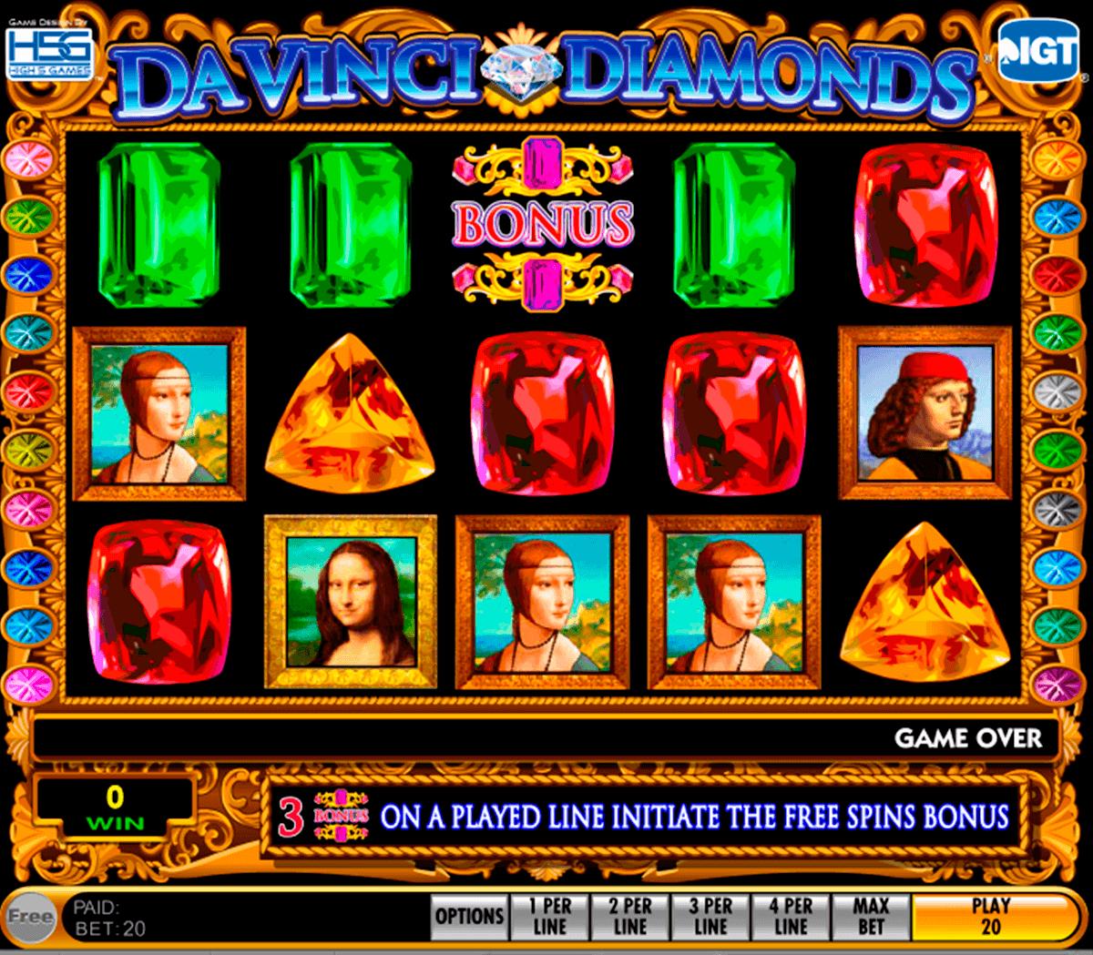 da vinci diamonds igt spielautomaten