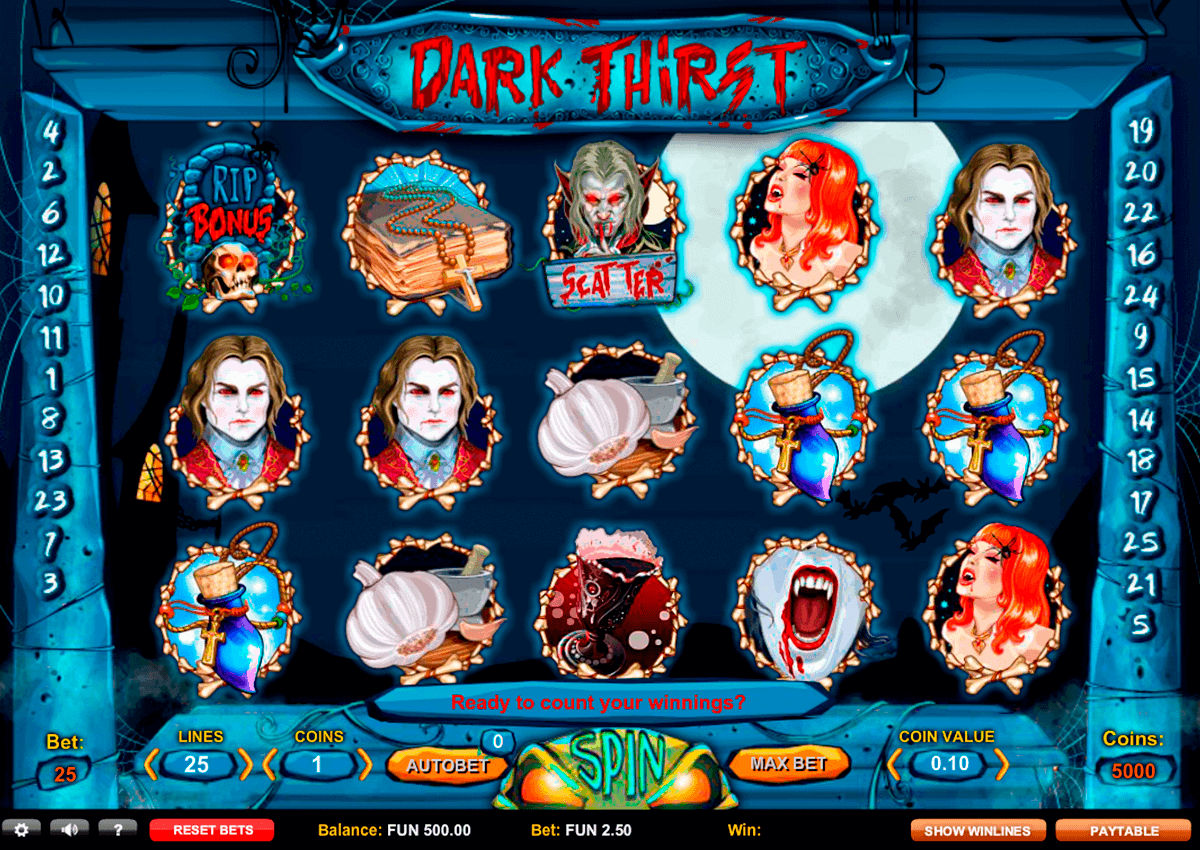 dark thirst gaming spielautomaten