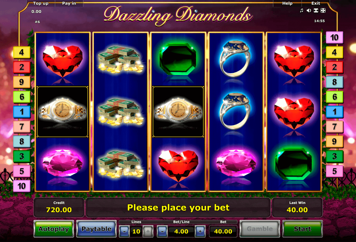 dazzling diamonds novomatic spielautomaten