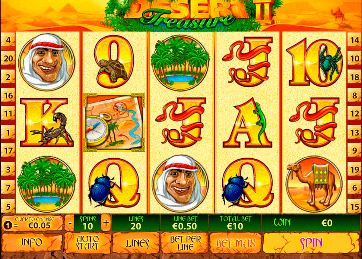 desert treasure ii playtech spielautomaten
