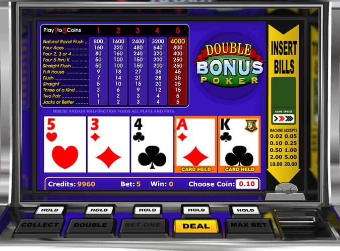 double bonus poker betsoft