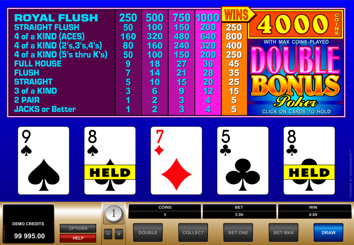 double bonus poker microgaming