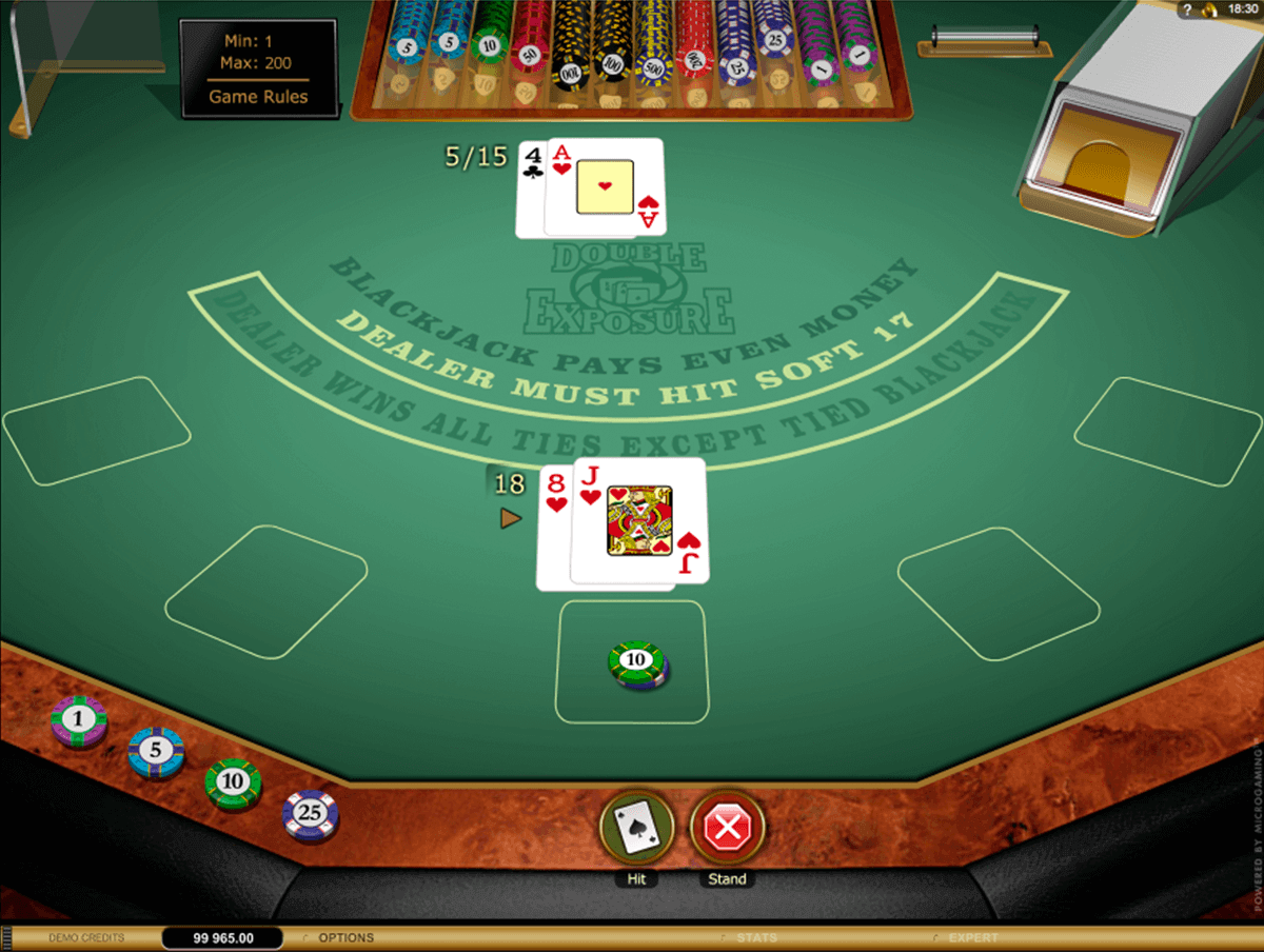 double exposure blackjack gold microgaming blackjack