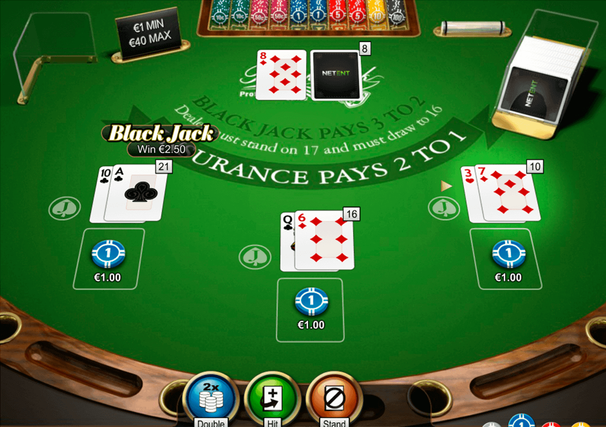 double xposure blackjack professional series netent blackjack