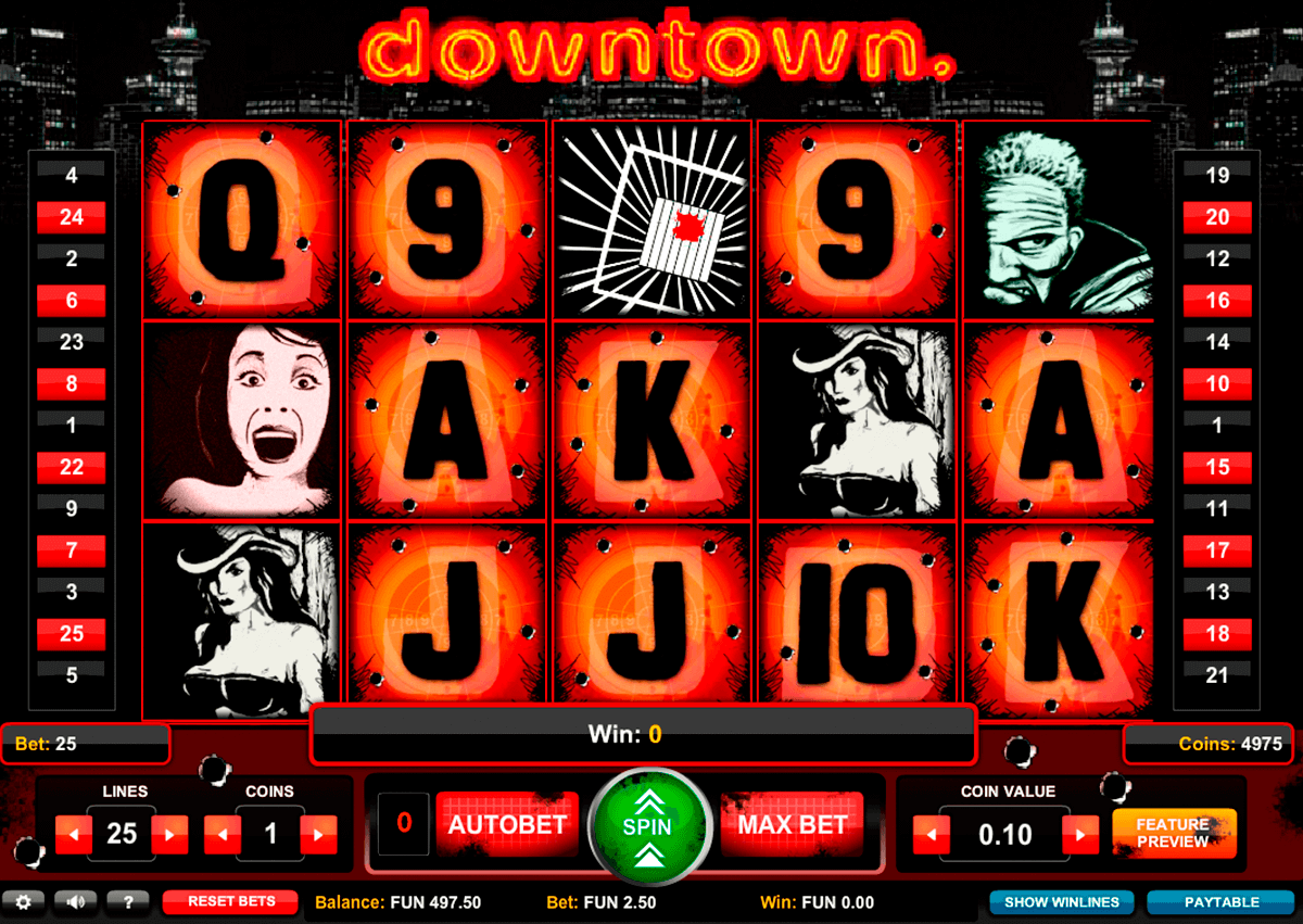 downtown 1x2gaming spielautomaten