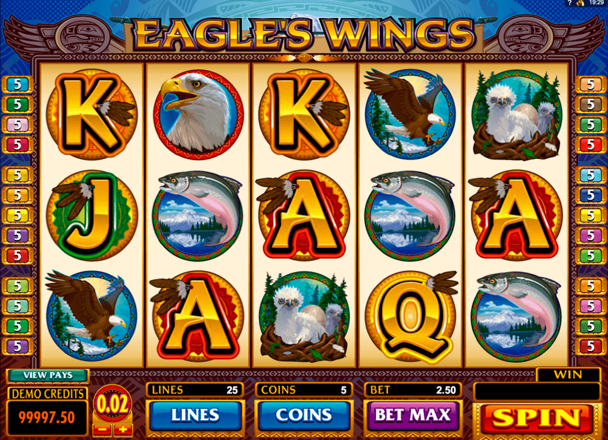 eagles wings microgaming spielautomaten