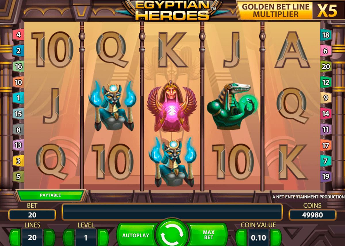 egyptian heroes netent spielautomaten