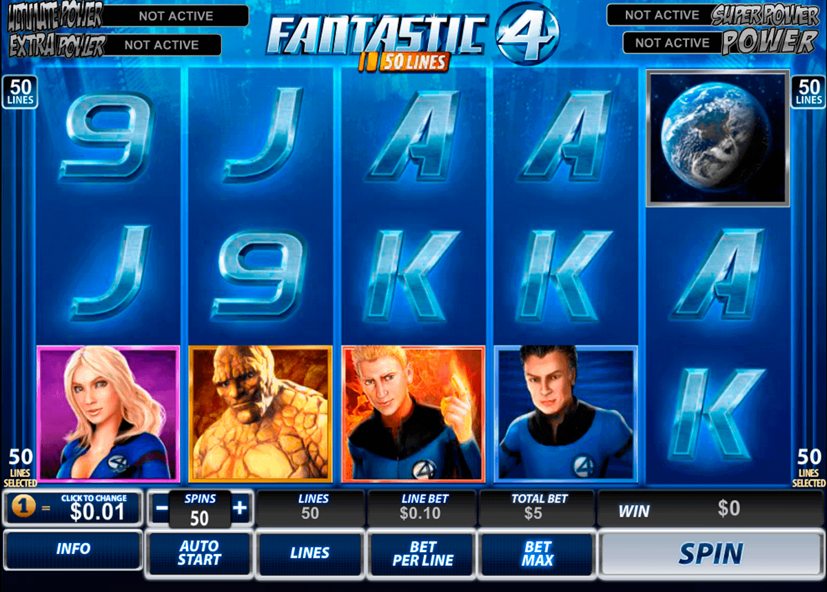 fantastic four  lines playtech spielautomaten
