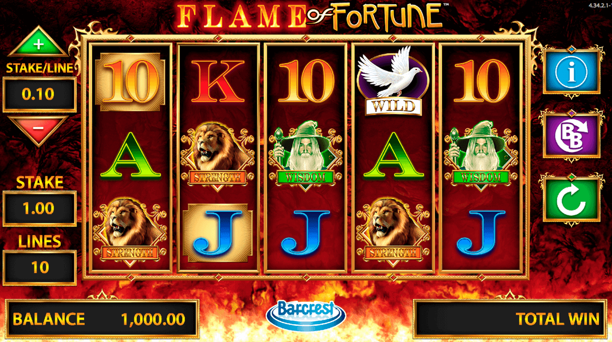 flame of fortune barcrest spielautomaten