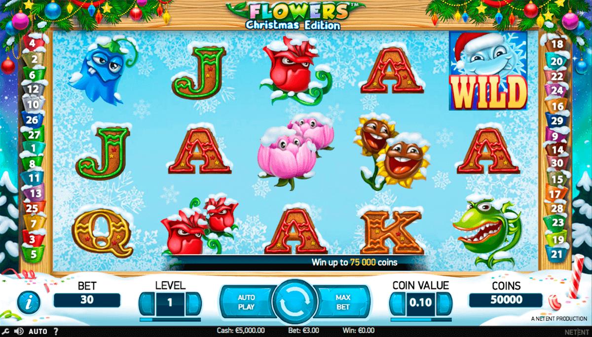 flowers christmas edition netent spielautomaten