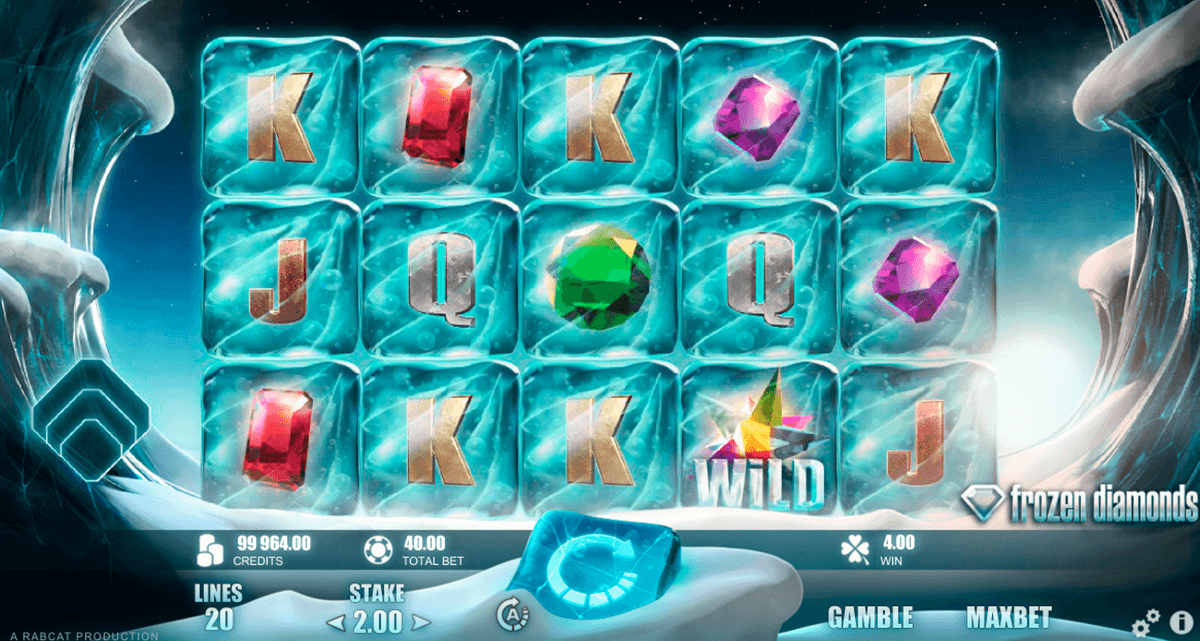 frozen diamonds rabcat spielautomaten