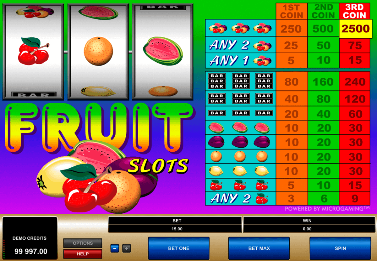 fruit slots microgaming spielautomaten