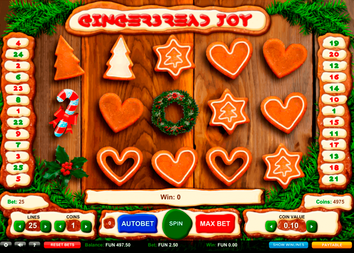 gingerbread joy 1x2gaming spielautomaten
